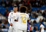 Real Madrid CF's Marcelo Vieira and Real Madrid CF's Luka Jovic during La Liga match. Oct 30, 2019. (ALTERPHOTOS/Manu R.B.)