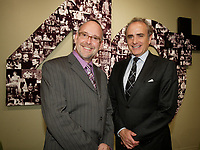 Montreal (Qc) CANADA Sept  30 2010 - Centaur Theater fundraiser Gala : Roy Surette (L),Calin Rovinescu. CEO, Air Canada.