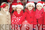 Pictured at the Santa parade in Listowel on Sunday were l-r: Grace Lawlor, Shauna Reidy, Mia Daly Lynch and Katelyn Shine..