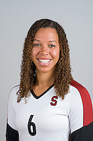 STANFORD, CA - AUGUST 13, 2013 - Rachel Williams of the Stanford Women's Volleyball team.