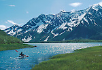 Alaska, Sea Kayaker, Kenai Fjords National Park, Aialik Bay, Pedersen Lagoon, David Fox,.