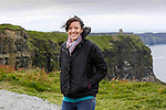 Allison at The Cliffs of Moher in County Clare, Ireland on Friday June 21st 2013. (Photo by Brian Garfinkel)