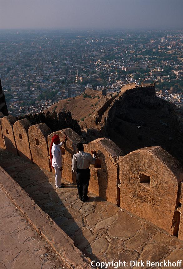 Indien, Rajasthan, Jaipur, Blick vom Fort Nahargarh Indien, Rajasthan, Jaipur, Blick vom Fort Nahargarh, UNESCO-Weltkulturerbe