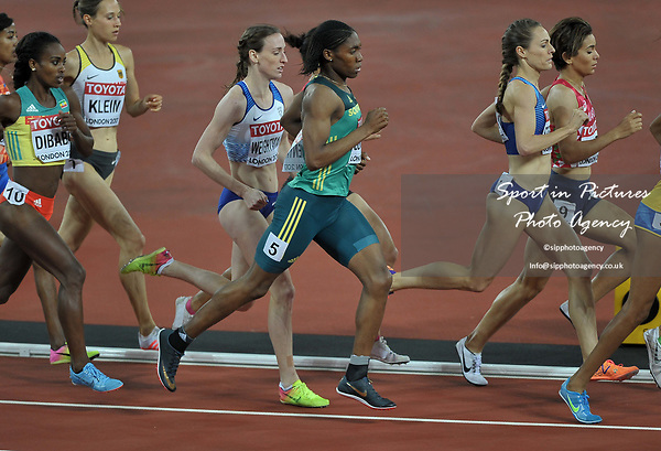 Caster SEMENYA (RSA) during the womens 1500m final. IAAF world athletics championships. London Olympic stadium. Queen Elizabeth Olympic park. Stratford. London. UK. 07/08/2017. ~ MANDATORY CREDIT Garry Bowden/SIPPA - NO UNAUTHORISED USE - +44 7837 394578