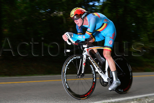 23.09.2015. Richmond, Virginia, USA. World Championship Cycling, Mens Elite time trials.  Jurgen Van Den Broeck of Belgium pictured during the individual Time Trial Elite men at the UCI Road World Cycling Championships in Richmond, United States of America