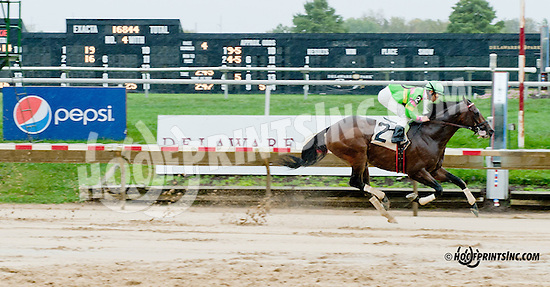 Ismael Grande winning at Delaware Park on 10/7/13