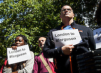 "17.08.2014 - ""London to #Ferguson"" - Vigil outside the US Embassy"