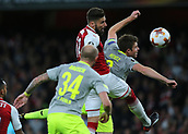 14th September 2017, Emirates Stadium, London, England; UEFA Europa League Group stage, Arsenal versus FC Cologne; Olivier Giroud of Arsenal heads wide from an Arsenal cross