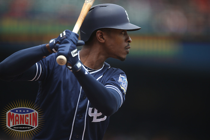 SAN FRANCISCO, CA - MAY 25:  Melvin Upton Jr. #2 of the San Diego Padres bats against the San Francisco Giants during the game at AT&T Park on Wednesday, May 25, 2016 in San Francisco, California. Photo by Brad Mangin