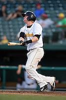 South Bend Silver Hawks first baseman Marty Herum (27) at bat during a game against the Dayton Dragons on August 20, 2014 at Four Winds Field in South Bend, Indiana.  Dayton defeated South Bend 5-3.  (Mike Janes/Four Seam Images)