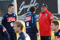 Allenamento del Napoli nel centro sportivo di CastelVolturno<br />  Maurizio Sarri  Marek Hamsik