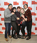 "Joe Tippett, Isabelle Fuhrman, Erica Schmidt, Abigail Breslin, and Alex Wolff attend the New Group's ""All the Fine Boys"" rehearsal photocall at their rehearsal studio on February 3, 2017 in New York City."