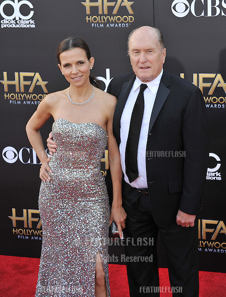 Robert Duvall &amp; Luciana Pedraza at the 2014 Hollywood Film Awards at the Hollywood Palladium.<br /> November 14, 2014  Los Angeles, CA<br /> Picture: Paul Smith / Featureflash