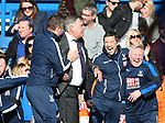 Crystal Palace's Sam Allardyce celebrates at the final whistle during the Premier League match at the Stamford Bridge Stadium, London. Picture date: April 1st, 2017. Pic credit should read: David Klein/Sportimage via PA Images