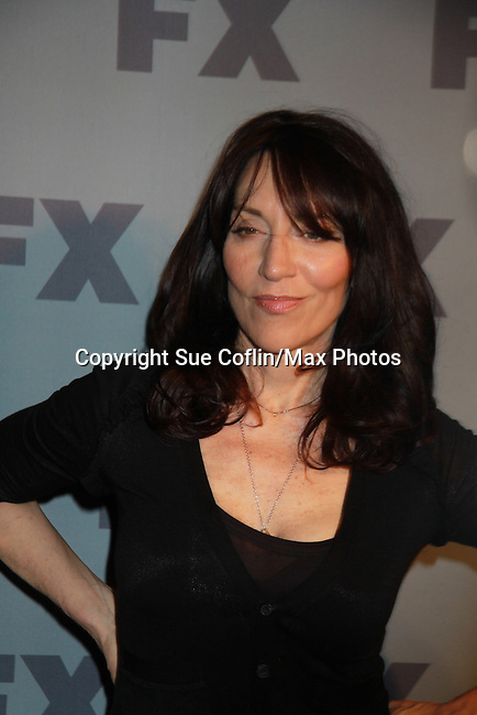 Katey Sagal stars in FX's Sons of Anarchy as they pose on the red carpet at FX 2012 Ad Sales Upfront held on March 29, 2012 at Lucky Stirke, New York, New York. (Photo by Sue Coflin/Max Photos)