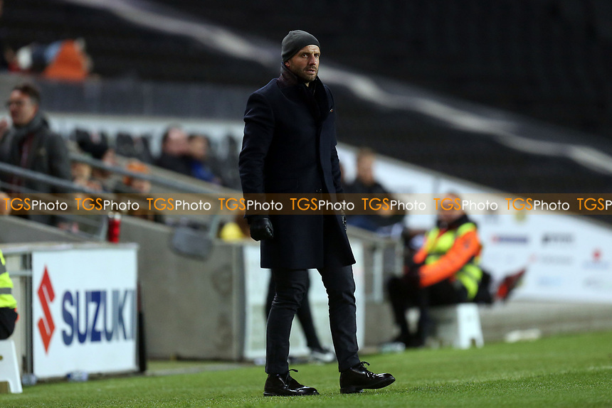 MK Dons manager Paul Tisdale during MK Dons vs Macclesfield Town, Sky Bet EFL League 2 Football at stadium:mk on 17th November 2018