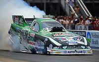 Jun. 16, 2012; Bristol, TN, USA: NHRA funny car driver John Force during qualifying for the Thunder Valley Nationals at Bristol Dragway. Mandatory Credit: Mark J. Rebilas-
