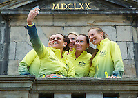 April 17, 2015, Netherlands, Den Bosch, Maaspoort, Fedcup Netherlands-Australia,  Australian team making a selfy<br /> Photo: Tennisimages/Henk Koster