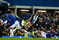 Newcastle United's Joelinton is tackled by Everton's Morgan Schneiderlin<br /> <br /> Photographer Alex Dodd/CameraSport<br /> <br /> The Premier League - Everton v Newcastle United  - Tuesday 21st January 2020 - Goodison Park - Liverpool<br /> <br /> World Copyright © 2020 CameraSport. All rights reserved. 43 Linden Ave. Countesthorpe. Leicester. England. LE8 5PG - Tel: +44 (0) 116 277 4147 - admin@camerasport.com - www.camerasport.com