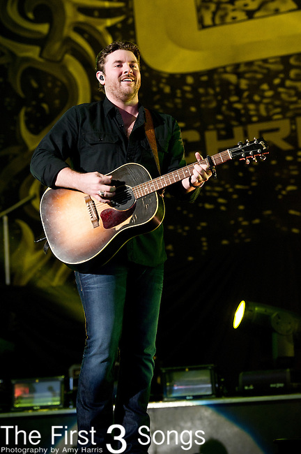 Chris Young performs at the Klipsch Music Center in Indianapolis, Indiana.