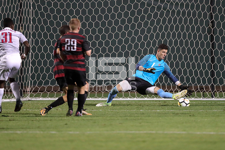 Stanford, CA - September 7, 2017:  Stanford Men's Soccer wins its match with SMU 3-1 at Laird Q. Cagan Stadium.
