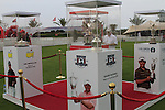 The Major trophies on display during Day 2 Friday of the Abu Dhabi HSBC Golf Championship, 21st January 2011..(Picture Eoin Clarke/www.golffile.ie)