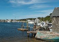 Quaint fishing village of Menemsha, Cillmark, Martha's Vineyard, Massachusetts