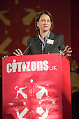 "Councillor Catherine West, Leader of Islington Council, addresses a ""Day for Civil Society"" organized by Citizens UK / London Citizens to celebrate 10 years of the Living Wage Campaign, launch a National Living Wage Foundation and call for the living wage to be adopted nationally.  Central Hall, Westminster."
