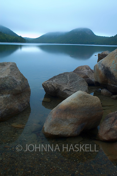 Jordan pond sunrise in Acadia National Park, Bar Harbor, Maine