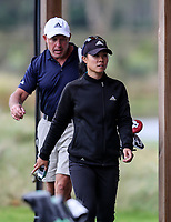 Danielle Kang walks with caddie Steve Williams.<br /> McKayson NZ Women's Golf Open, first Practice Round, Windross Farm Golf Course, Manukau, Auckland, New Zealand, Monday 25 September 2017.  Photo: Simon Watts/www.bwmedia.co.nz
