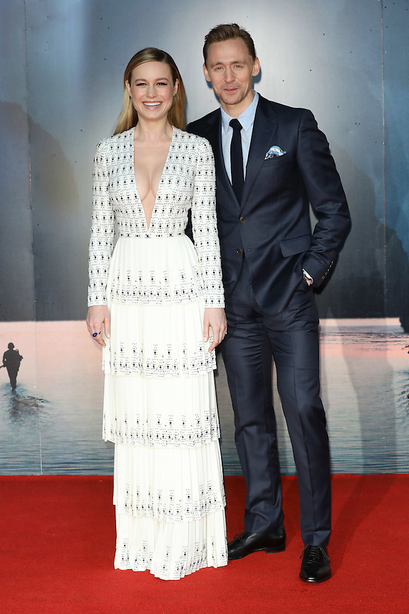 "Brie Larson and Tom Hiddlestone<br /> arrives for the ""Kong: Skull Island"" premiere, Empire Leicester Square, London.<br /> <br /> <br /> ©Ash Knotek  D3235  28/02/2017"