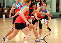 24.08.2016 Silver Ferns Bailey Mes in action during the Silver Ferns Training in Auckland. Mandatory Photo Credit ©Michael Bradley.
