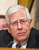 United States Senator Mike Enzi (Republican of Wyoming) at the US Senate Committee on Homeland Security and Governmental Affairs hearing on the nomination of General John F. Kelly, USMC (Retired), to be Secretary, US Department of Homeland Security on Capitol Hill in Washington, DC on Tuesday, January 10, 2017.<br /> Credit: Ron Sachs / CNP