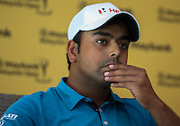Anirban Lahiri (IND)  reflect on the success at the inaugural Eurasia Cup during the preview media interviews ahead of the 2014 Maybank Malaysian Open at the Kuala Lumpur Golf & Country Club, Kuala Lumpur, Malaysia. Picture:  David Lloyd / www.golffile.ie
