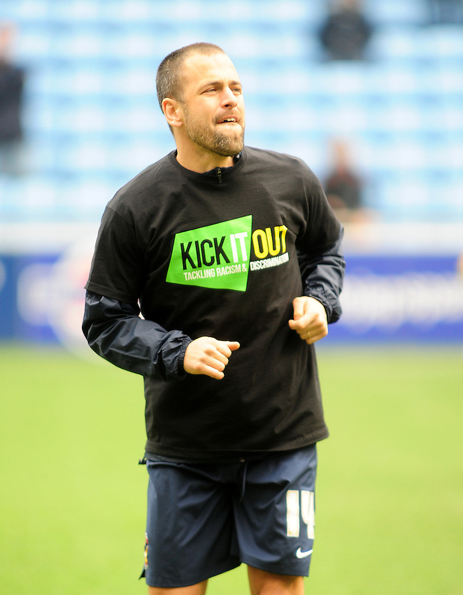 Coventry City's Joe Cole during the pre-match warm-up <br /> <br /> Photographer Andrew Vaughan/CameraSport<br /> <br /> Football - The Football League Sky Bet League One - Coventry City v Fleetwood Town - Saturday 27th February 2016 - Ricoh Stadium - Coventry   <br /> <br /> &copy; CameraSport - 43 Linden Ave. Countesthorpe. Leicester. England. LE8 5PG - Tel: +44 (0) 116 277 4147 - admin@camerasport.com - www.camerasport.com