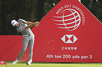 Dustin Johnson (USA) during the Pro-Am at the WGC HSBC Champions 2018, Sheshan Golf Club, Shanghai, China. 24/10/2018.<br />