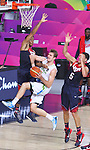 07.09.2014. Barcelona, Spain. 2014 FIBA Basketball World Cup, round of 8. Picture show D. Lorbek in action during game between Slovenia v Usa at Palau St. Jordi.