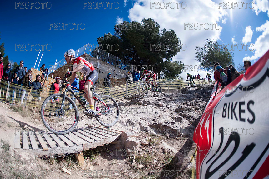 Chelva, SPAIN - MARCH 6: Josep Duran during Spanish Open BTT XCO on March 6, 2016 in Chelva, Spain