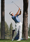August 4, 2012:  Stuart Appleby from Victoria, Australia tees off on the 7th hole during the third round of the 2012 Reno-Tahoe Open Golf Tournament at Montreux Golf & Country Club in Reno, Nevada.