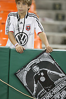 Fan of D.C. United during an MLS match against Toronto FC that was the final appearance of D.C. United's Jaime Moreno at RFK Stadium, in Washington D.C. on October 23, 2010. Toronto won 3-2.