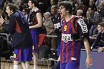 Euroleague el FC Barcelona guanya 83 -82 al Panathinaikos en el primer partit del playoff. Ricky Rubio celebra una cistella