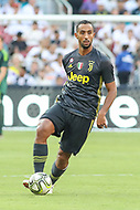 Landover, MD - August 4, 2018: Juventus defender Mehdi Benatia (4) passes the ball during the match between Juventus and Real Madrid at FedEx Field in Landover, MD.   (Photo by Elliott Brown/Media Images International)