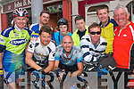 After landing in Listowel on Thursday afternoon, fresh from their cycle from Istanbul to Listowel in aid of Goal were Mike O'Callaghan, Gearoid Pierse, Darren Enright, James Lynch, Daniel Pierse, John Lynch, Michael Pierse, Riseard PIerse and Michael Barry.   Copyright Kerry's Eye 2008