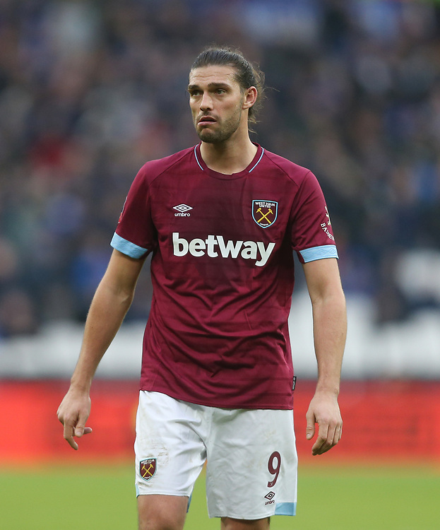 West Ham United's Andy Carroll<br /> <br /> Photographer Rob Newell/CameraSport<br /> <br /> Emirates FA Cup Third Round - West Ham United v Birmingham City - Saturday 5th January 2019 - London Stadium - London<br />  <br /> World Copyright © 2019 CameraSport. All rights reserved. 43 Linden Ave. Countesthorpe. Leicester. England. LE8 5PG - Tel: +44 (0) 116 277 4147 - admin@camerasport.com - www.camerasport.com