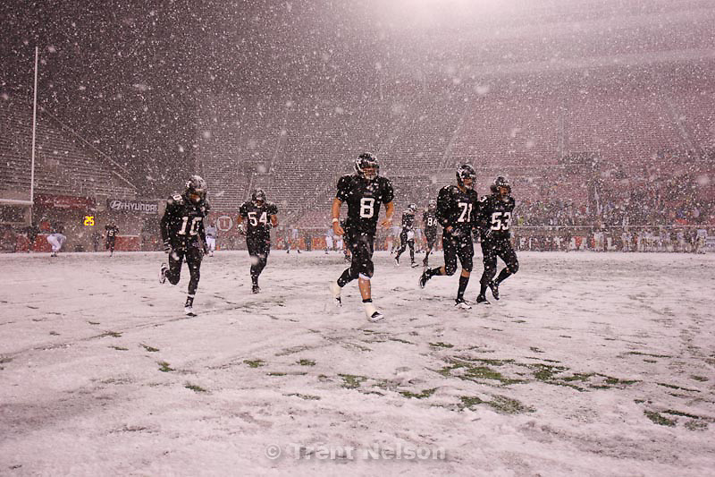 Trent Nelson  |  The Salt Lake Tribune.Hurricane's Adam Thompson, Alex Sefita, Brian Scott, Bryan Lee, Thurman Joe. Hurricane defeated Desert Hills 21-0 in the 3A State Championship high school football game at Rice-Eccles Stadium in Salt Lake City, Utah, Friday, November 18, 2011.