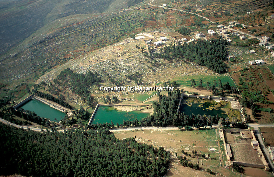 An aerial view of Solomon's Pools