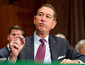 Joseph Otting, former President, Chief Executive Officer, and a member of the Board of Directors of OneWest Bank, testifies before the United States Senate Committee on Banking, Housing, and Urban Affairs on his nomination to be Comptroller of the Currency, US Department of the Treasury, on Capitol Hill in Washington, DC on Thursday, July 27, 2017.  The Comptroller of the Currency is responsible for overseeing federally-chartered banks.<br /> Credit: Ron Sachs / CNP