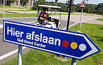 LELYSTAD - Hier Afslaan bord van Golfbaan van Golfclub Flevoland in Lelystad. ANP COPYRIGHT KOEN SUYK