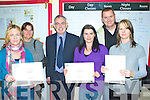 At the Awards Ceremony in the O'Connell Centre on Friday were l-r; Teresa Farrell, Hayley Pledge, Brian Spillane-Tutor, Jolene McSherry, Paul Ferguson, Suzann Stapleton.