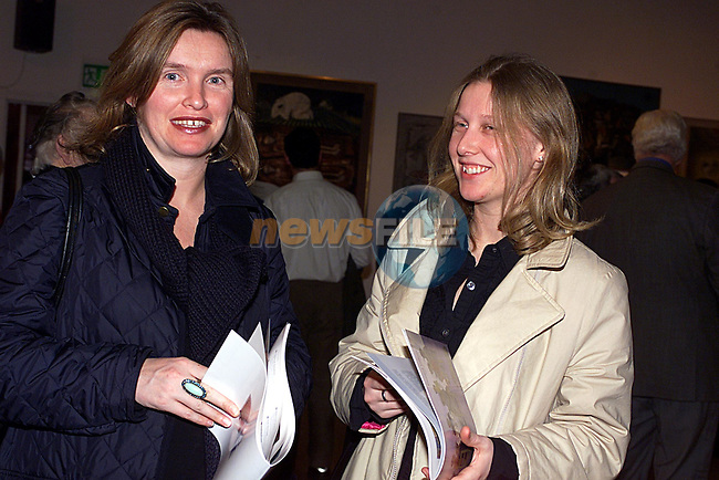 Angla and Sonia Carr at The Gerard Dillon Art Exhibition in The Drogheda Arts Centre,..Pic Tony Campbell  Newsfile